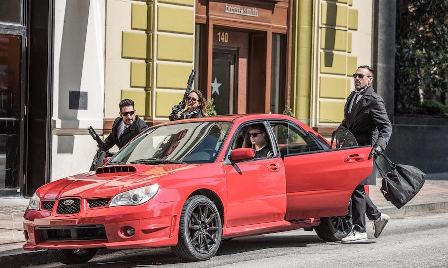 Ansel Elgort;Jon Hamm;Eiza Gonzalez;Jon Bernthal