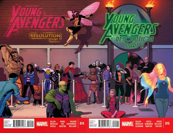 Image result for young avengers mic drop at the edge of the universe